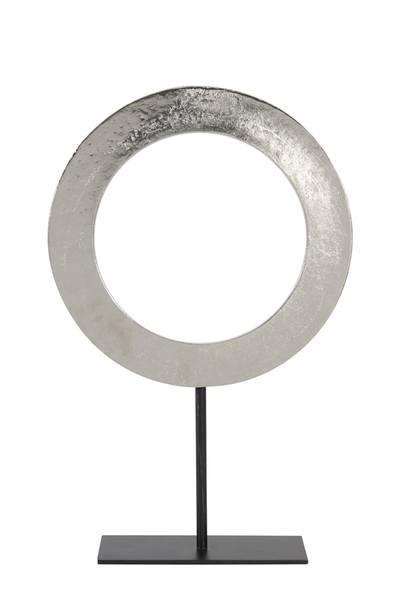 Waiwo Ornament on base, raw nickel 56cm
