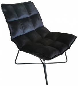 Bilde av Torino stol, sort velour.