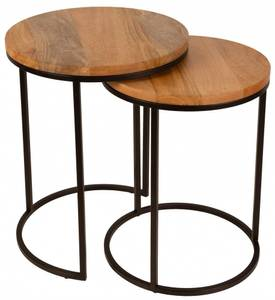 Bilde av Sett med 2 runde bord med