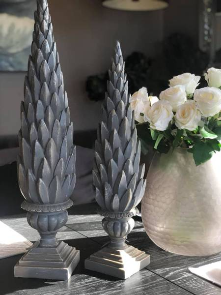 Artisjokkspir Antikkgrå H62cm