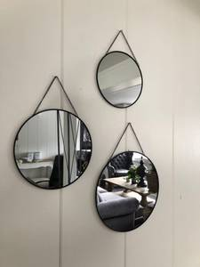 Bilde av Speil-sett, sort med lenke