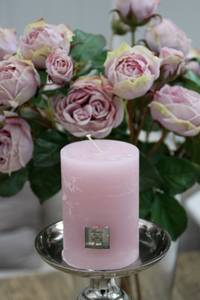Bilde av Rustic Candle pink 7x10