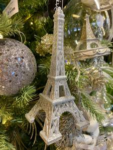 Bilde av Eiffeltårn i glitter og sølv