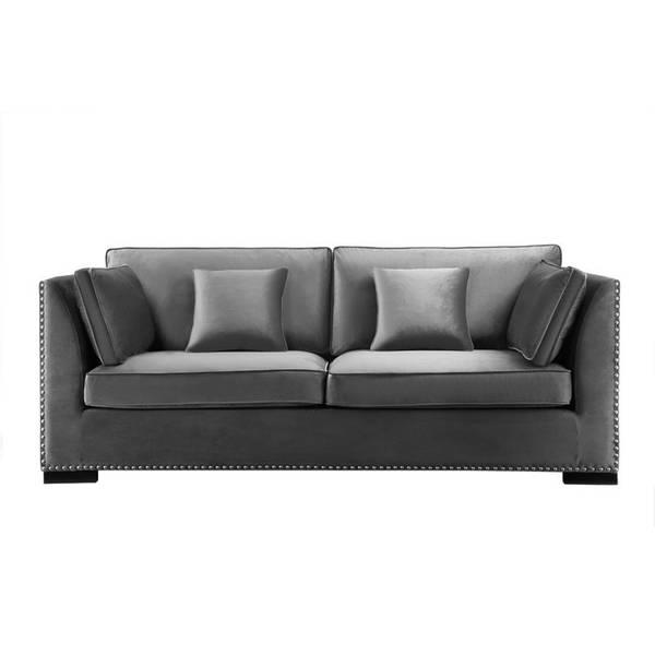 Manhattan Sofa, Mørk Grå Velour
