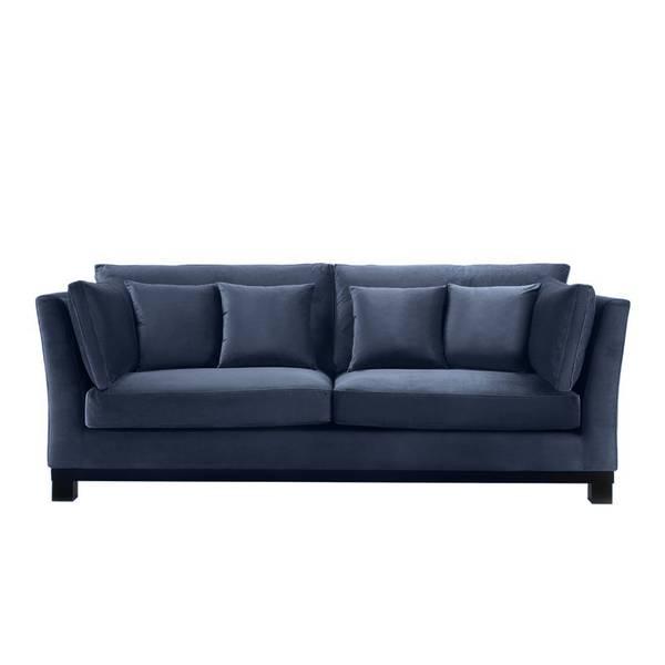 York Sofa, Petroleumsblå Velour