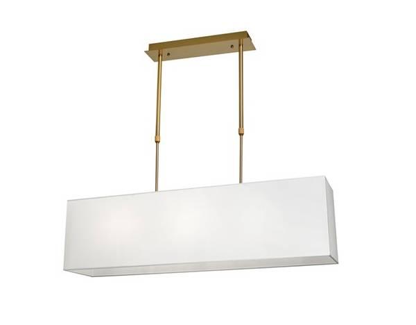 Aruba Taklampe B110cm Rektangulær, gull hvit skjerm