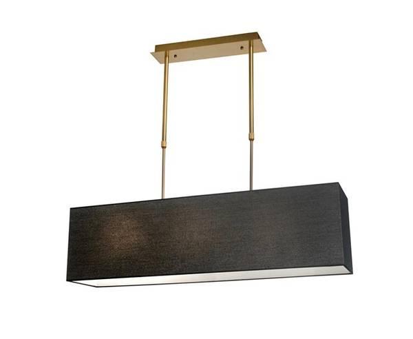Aruba Taklampe B110cm Rektangulær gull svart skjem