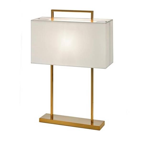 Aruba bordlampe H65cm rektangulær gull, hvit skjerm