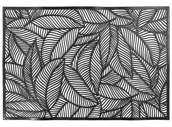 Dekkebrikke bladmønster svart