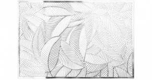 Bilde av Dekkebrikke bladmønster Sølv