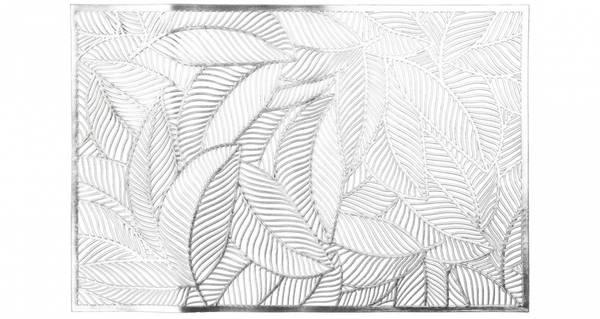 Dekkebrikke bladmønster Sølv