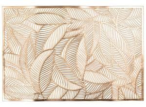 Bilde av Dekkebrikke bladmønster gull