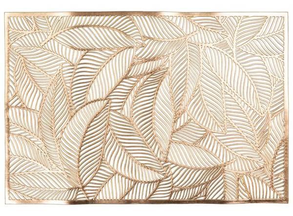 Dekkebrikke bladmønster gull (PVC)