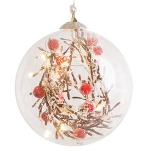 Bilde av Glasskule med kvist og røde