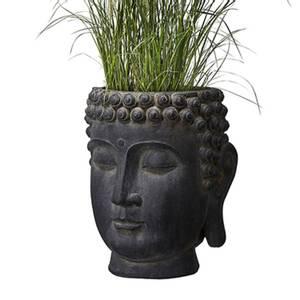 Bilde av Buddha krukke, mørk grå STOR