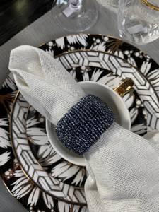 Bilde av Serviettring Decoblue perler