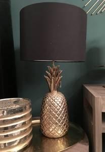 Bilde av Pineapple Lamp, Gold med sort