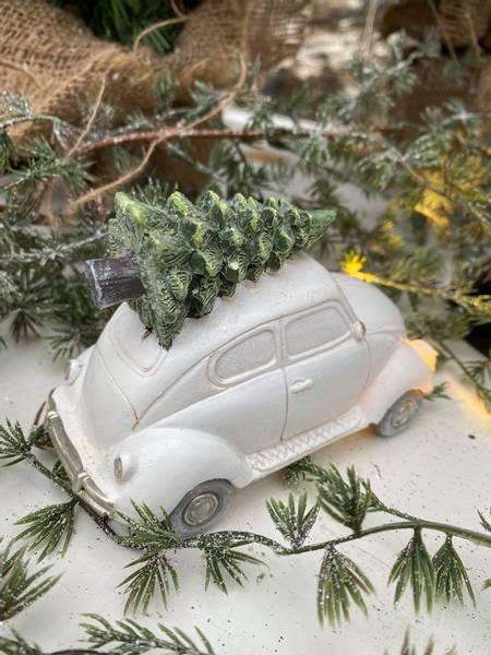Boble med juletre på taket, hvit