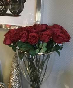 Bilde av Stilkrose 43cm Rød