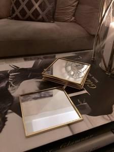 Bilde av Glassbrikker Square Gold,