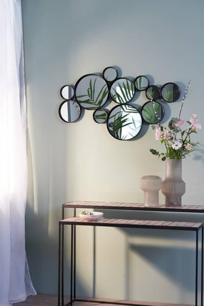 Cielo Cirlces Mirror, svart