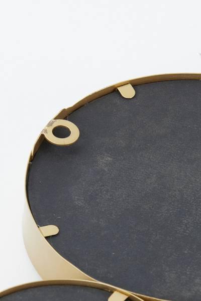 Cielo Circle Mirror, gold