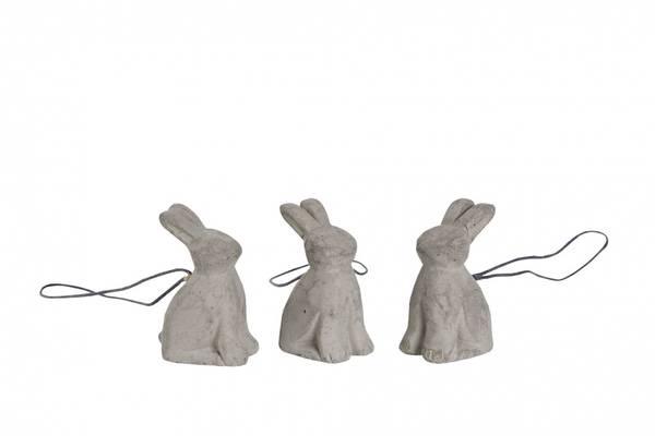 Mini-kaniner i betong m/oppheng.
