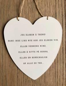 Bilde av Hjerteskilt «jeg elsker å