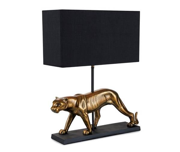 Panter Bordlampe med sort skjerm