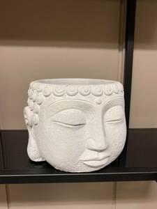 Bilde av Buddha blomsterpotte, hvit S