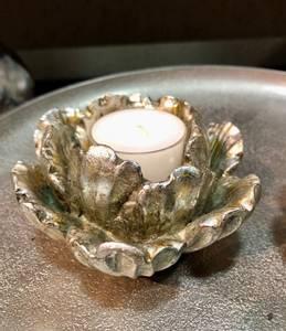 Bilde av Blomros telysestake, sølv