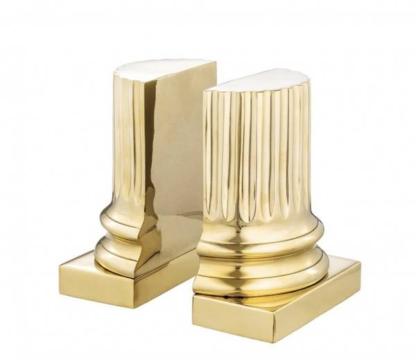 Eichholtz Bookend Pillar Polished brass set of 2