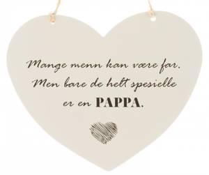 Bilde av Hjerteskilt PAPPA