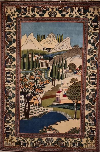 Bilde av Old Persisk Keshan figural str 210 x 143