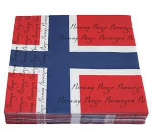 Bilde av SERVIETTER, NORSK FLAGG DESIGN