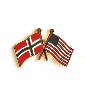 Bilde av Vennskaps pin Norge - USA