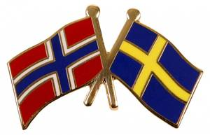 Bilde av Vennskaps pin Norge - Sverige