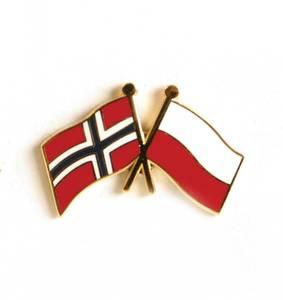 Bilde av Vennskaps pin Norge - Polen