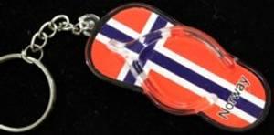 Bilde av Nøkkelring - Flippflopp - Norsk flagg