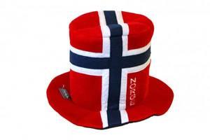 Bilde av Supporter hatt i norsk flagg