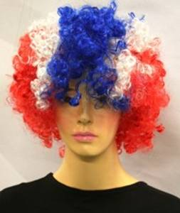 Bilde av Afro wig in Norwegian colors
