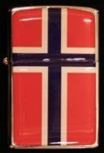 Bilde av Zippo Lighter - Norsk flagg