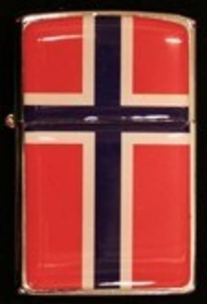 Zippo Lighter - Norsk flagg