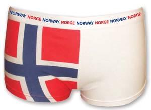 Bilde av Dameboxer i norsk flagg