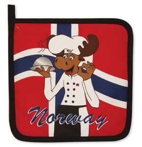 Bilde av Grytelapp - Norsk flagg - Elg kokk
