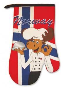 Bilde av Grillvott - Norsk flagg - Elg-kokk