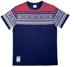 Bilde av T-skjorte - Mariusmønster - blå/hvit/rød