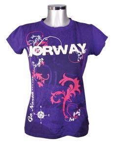 Bilde av Dame t-skjorte - Lilla med hvit Norway patch
