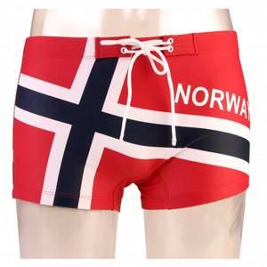 Bilde av Badebukse i norsk flagg