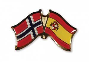 Bilde av Vennskaps pin Norge - Spania